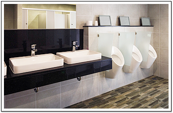 Clean Commercial Bathroom